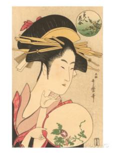 浮世絵-団扇を持つ女